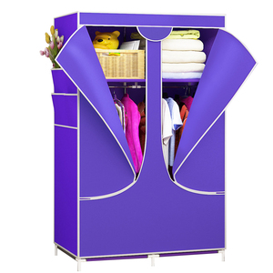 Image 4 - Modern DIY Non woven Cloth Wardrobe Folding Clothes Storage Cabinet Dust proof Moisture proof Closet Bedroom Furniture