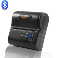 IssyzonePos Bluetooth Android iOS Thermal Printer Mini 80mm Receipt Printer Barcode Mobile Printer Free POS APP Ticket Retails
