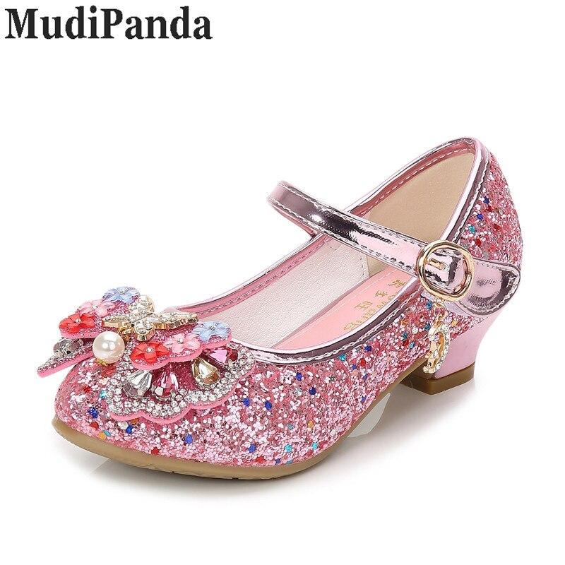 MudiPanda Glitter Dzieci Dziewczyny Szpilki Buty Dla dzieci - Obuwie dziecięce - Zdjęcie 4