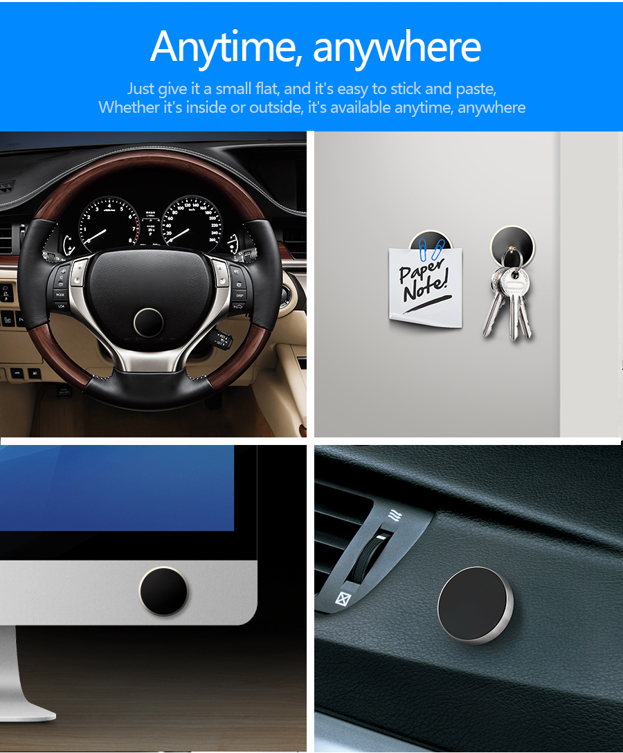Magnetic Mobile Phone Holder Car Mini magnetic car holder magnet holder phone universal for iphone 7 plus samsung s8 s7 s6 edge plus note 8 galaxy huawei xiaomi redmi
