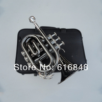 Factory Wholesale The Inventory With Bb Pocket Trumpet Appearance Black Big Horn 123mm