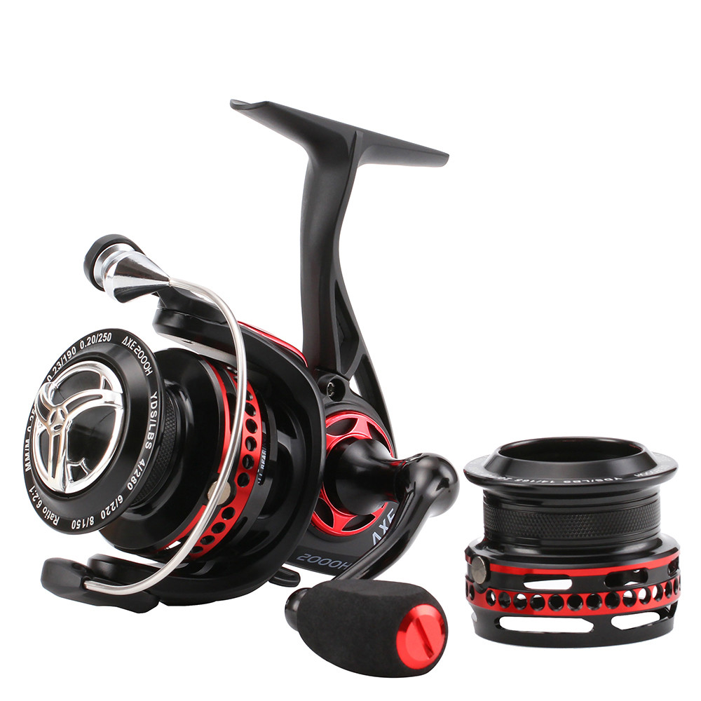 New SeaKnight Fishing Reel With Spare Shallow Spool AXE 2000H 6 2 1 Full Metal WaterProof