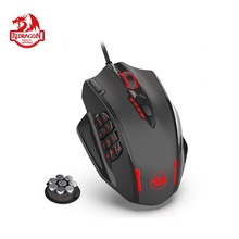 Redragon M908 IMPACT Gaming Mouse RGB LED Laser Wired MMO Mouse 12400 DPI High Precision 18 Programmable Mouse Buttons PC Gamer