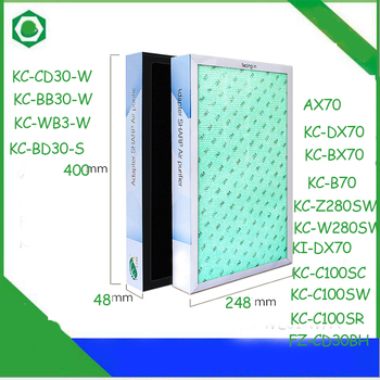 40*24.8*4.8cm Air Purifier Filter for Sharp KC-W280SW/R KC-Z280SW KC-CD30-W KC-BB30-W KC-WB3-W KC-BD30-S Air Purifier