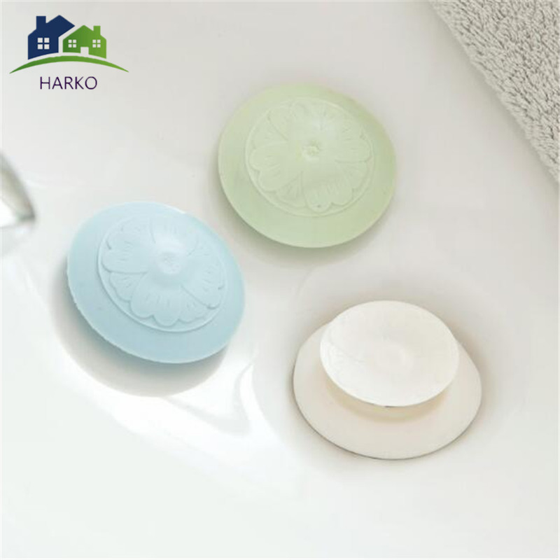Shower Drain Stopper Floor Drain Rubber Circle Silicone Plug For Shower Bathtub Plug Bathroom Leakage-proof Drain PVC Sink Basin