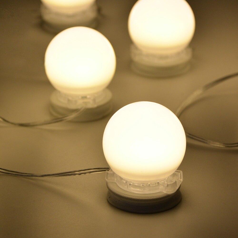 Hollywood Style LED Vanity light Bulbs Wall lamp Bathroom Makeup ...