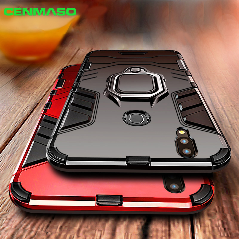 For Honor 8x Case For Honor 10 Lite Play V10 8x Max 7A Back Cover Mate 20 Pro Y9 2018 2019 Armor Car Holder Ring Shockproof Case image