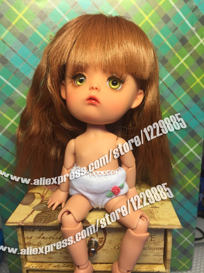 HeHeBJD 1 8 Mong resin figures model reborn big head doll palm doll toys gifts free