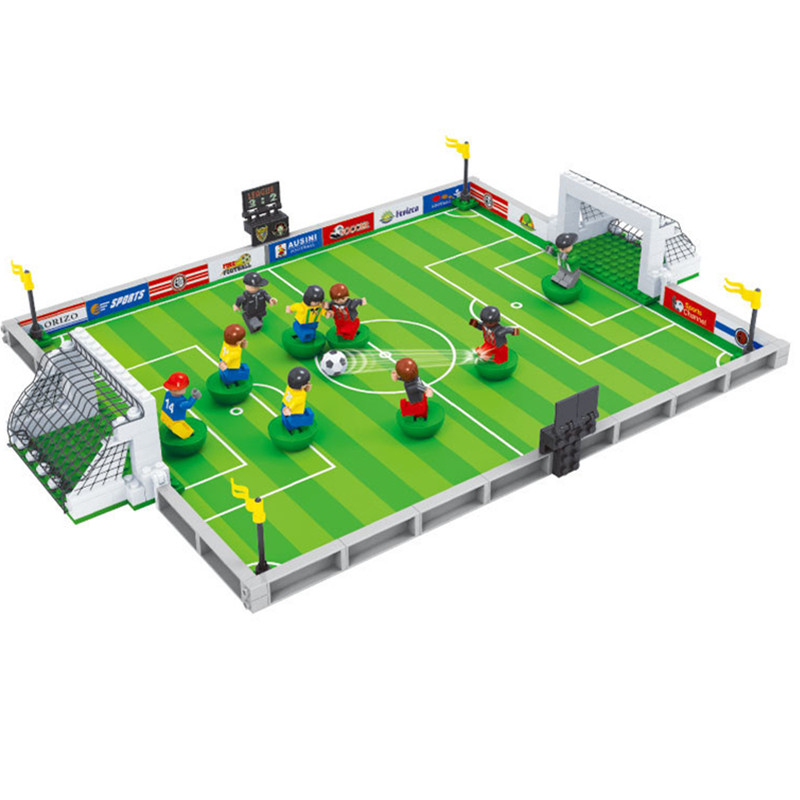 251Pcs Model building kits compatible with Legoing city football 3D building blocks Bricks Educational toys hobbies for children 251pcs model building kits compatible with legoing city football 3d building blocks bricks educational toys hobbies for children