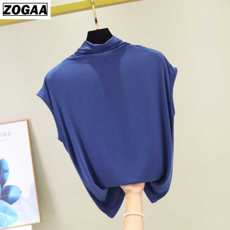 ZOGAA Plus M XL Bottom Close to Body and Slim Modal Bottom Shirt Summer turtleneck vest Lady Baita Sleeveless T shirt 9 Colors in Tank Tops from Women 39 s Clothing