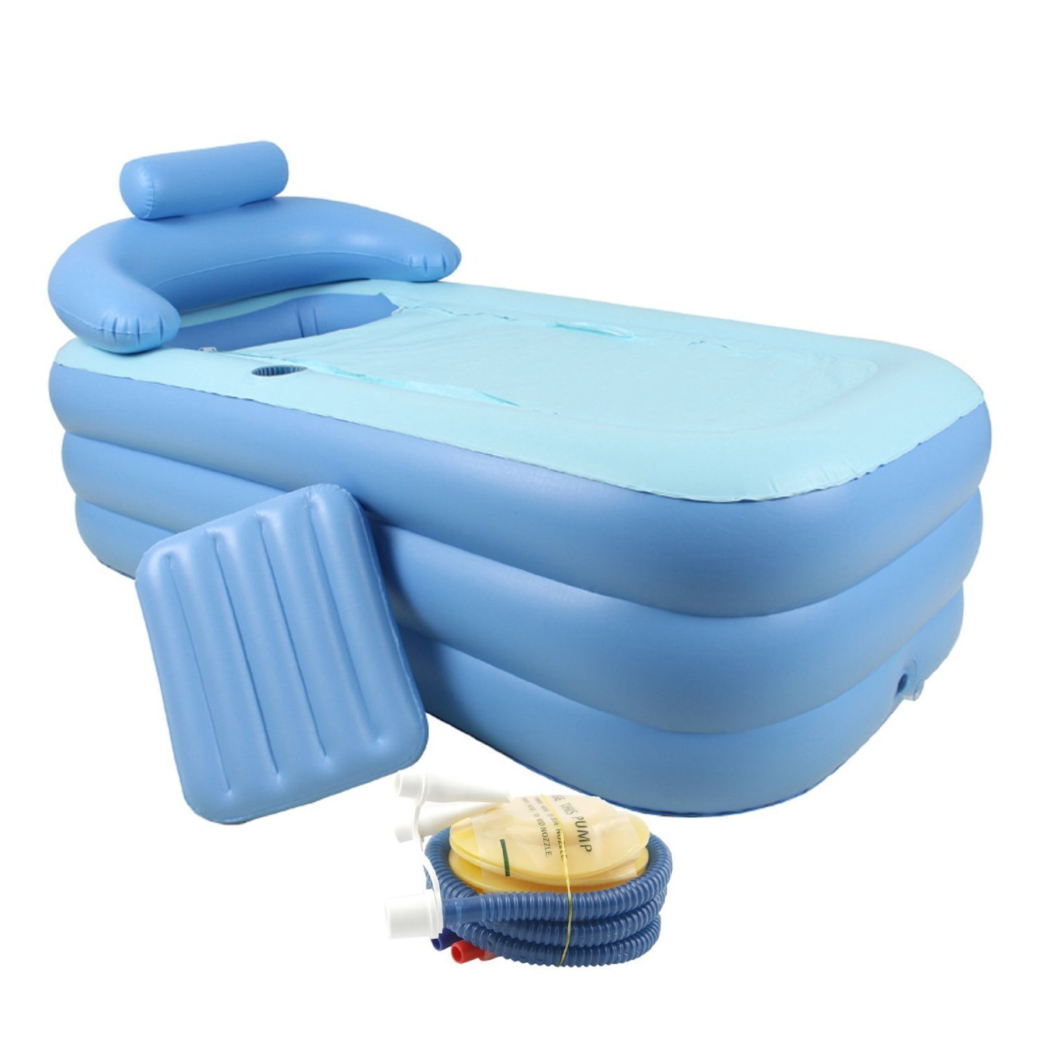 Adult PVC Portable Folding Inflatable Bath Tub with Air Pump for ...