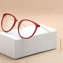 88aee7485 Decoração do vintage Óculos Ópticos Quadro miopia mulheres redondas de  metal óculos óculos oculos de grau óculos oculos de grau .