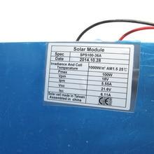 ECO DE Stock NO Duty No Tax 100W Semi Monocrystalline Flexible Solar Panels 100 Watt Portable Mono Solar Modules Free Shipping