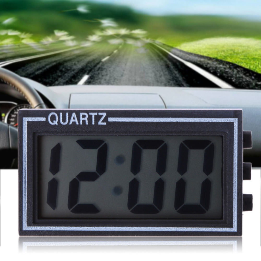 LCD Lighted Digital Car Clock Auto Car Truck Dashboard Date