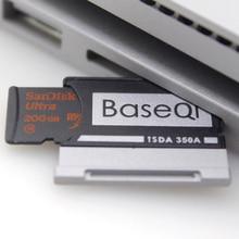 BaseQi алюминиевый Stealth drive микро SD/TF карта адаптер расширения памяти SD кардридер для microsoft Surface Book 13 «/15»