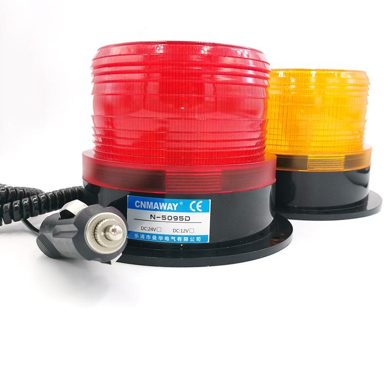 Rolling With Cigar Lighter Car Truck Signal Warning Light 12V 24V N-5095D Indicator Light LED Flash Beacon Strobe Emergency Lamp
