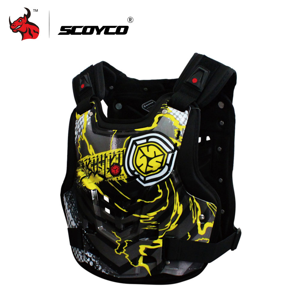 SCOYCO Professional Motocross Off-Road Racing Chest Back Body Protective Gear Guard Motorcycle Riding Armor Protector Vest brand new motorcycle armor protector motocross off road chest body armour protection jacket vest clothing protective gear p14