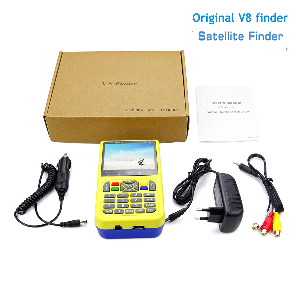 V8 Finder V-71 Full HD DVB-S/S2 Digital Satellite meter Satellite Finder MPEG-2 MPEG-4 FTA 3.5 inch LCD Display Satlink 1pc original satlink ws 6933 ws6933 dvb s2 fta c ku band digital satellite finder meter free shipping