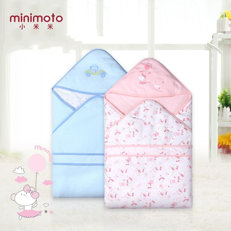 Minimoto nouveau-né bébé couvertures douces coloré infantile sac de nuit coton cale couette bébé mousseline lange d'emmaillotage enfant en bas âge serviette de voyage