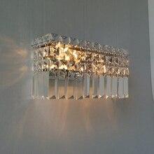 Современная спальня Кристалл Бра ночники проход коридор настенные светильники Роскошные гостиная бра Огни Кристалл настенные светильники бра настенные светильники на стену бра светодиодные бра лофт туалетный столик