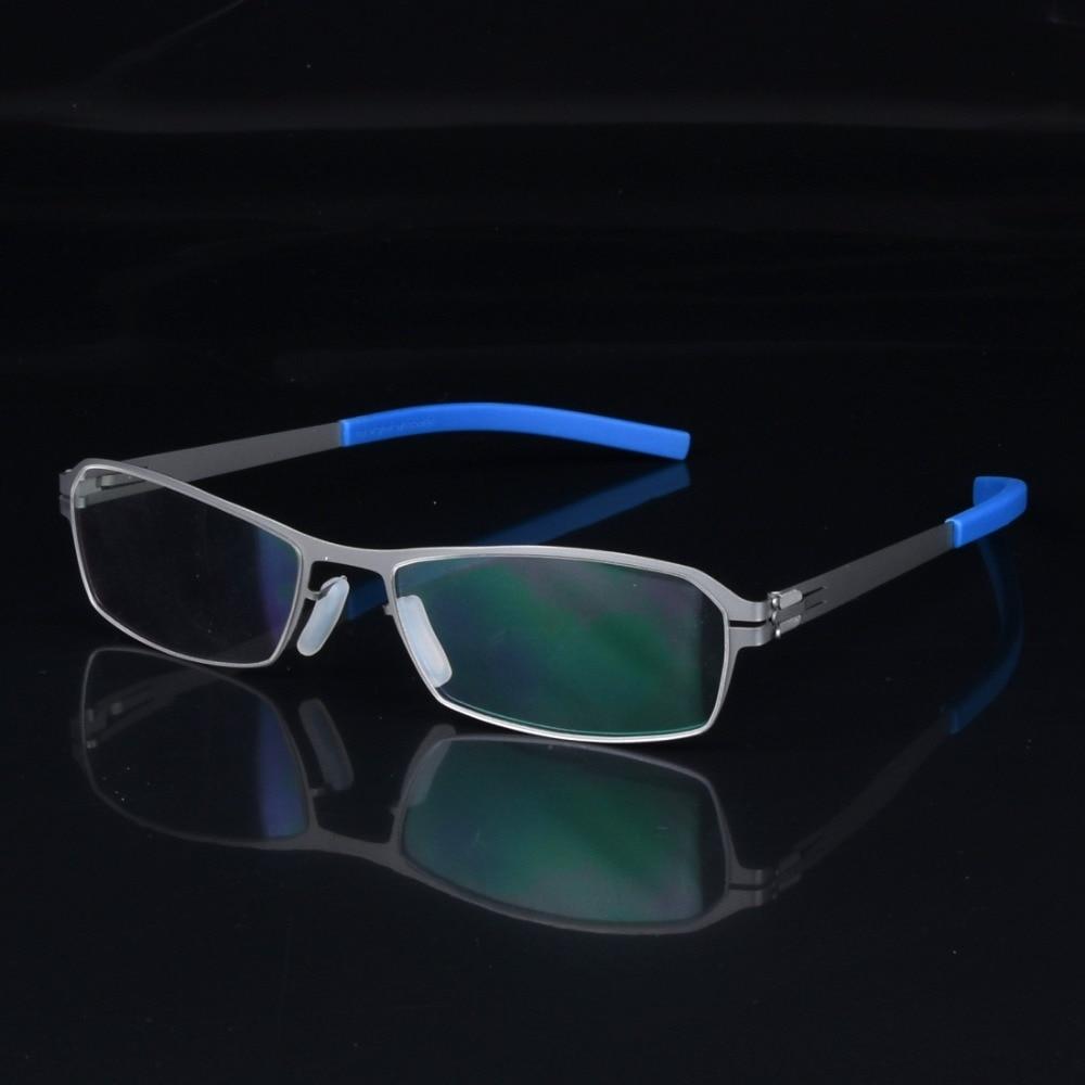 Ултра леки безгръбна рамка за очила мъже Ултра тънки креативни очила рамки мъже марка личност късогледство рамка мъжки очила