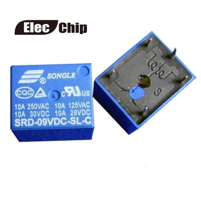 5PCS SRD 09VDC SL C Relay T73 9V 5 pin PCB Type 10A 9V DC Power