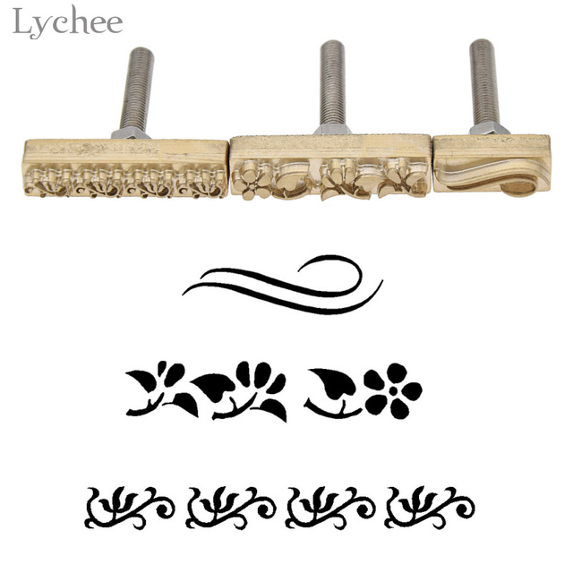 Lychee 1pc Wave Flower Pattern Leathercraft Carving Tool DIY Handmade Sewing Craft Leather Working Tool