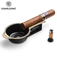 New Luxury Spoon Shape Mini Smoking Metal Pocket Cigar Holder Ashtray Holds 1 CL-068