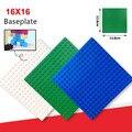 4 unids/lote! 16*16 Placa Base Placa Base para las Pequeñas Partículas de Bloques de Ladrillos de 12.8*12.8 cm Placa Base