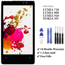 For Nokia Lumia 720 N720 / 920 RM 822 RM 821 / 800 N80 LCD Touch Screen Digitizer Assembly For Nokia N9 LCD Display With Frame