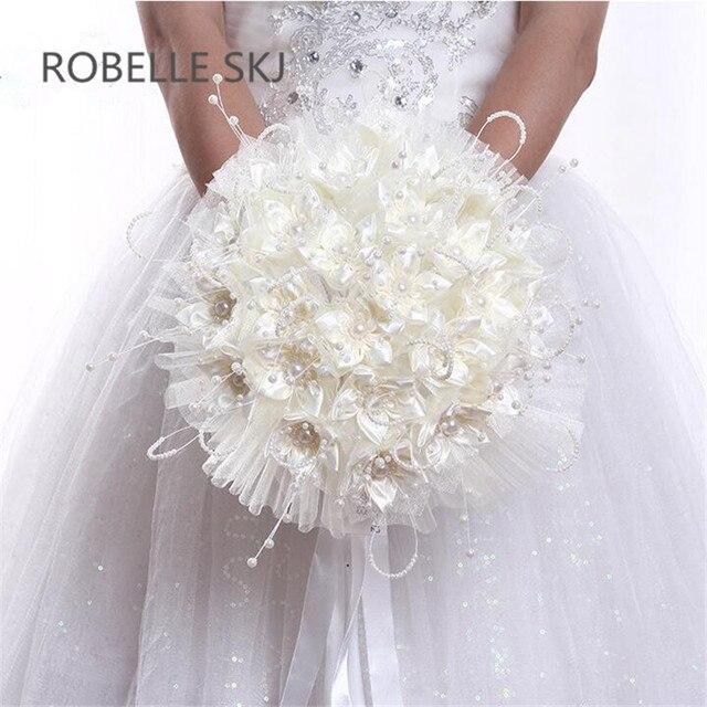 7722257962 US $18.2 30% OFF|Bouquets de Casamento Artificial New Bridal Bouquets  Bridesmaid Bouquet Wedding Bouquet with Flowers Vintage Lace Buque de  Noiva-in ...