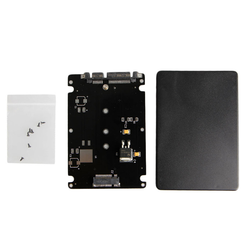 B+M Key Socket 2 M.2 NGFF (SATA) SSD To 2.5 SATA Converter Adapter Card With Box For Desktop Or Laptop