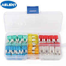 Aslent 120Pcs/lot Car Fuse Small Size Mini Standard Blade Assortment Set Auto Truck 5A 10A 15A 20A 25A 30A AMP Fuse Plastic Box 120pcs 1 box new mini auto automotive car boat truck blade fuse box assortment 5a 7 5a 10a 15a 20a 25a 30a