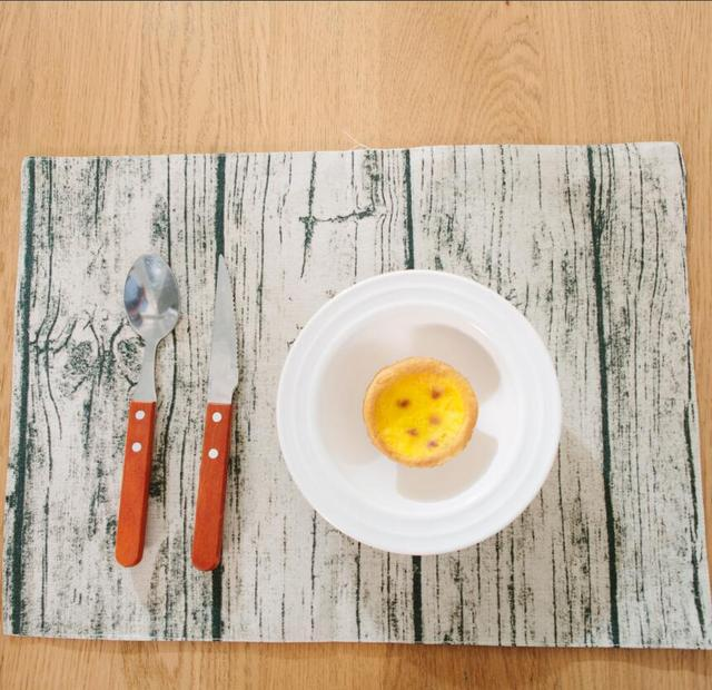 4 Pcs Lot Retro Linen Tablecloths Creative Imitation Wood Placemat Personalized Dark Patterns Table