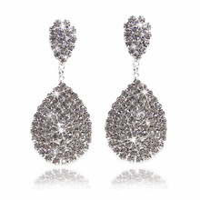 New fashion exquisite jewelry exaggeration popular water drill Earrings flash for the women