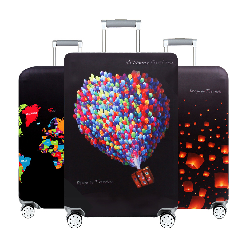 Luggage Protector Cover Travel Trolley Suitcase Elastic Protective Cover For 18-32 Inch Traveling Accessories Suitcase Case H181