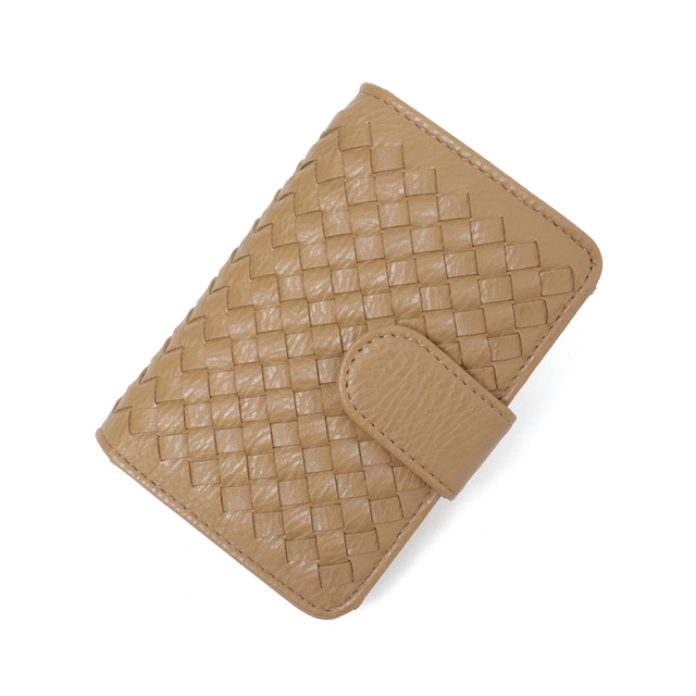Small Pu Leather Woven Wallet