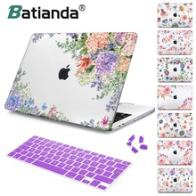 For Macbook Air 11 12 13 Cover Case Pro Retina 15 Touch bar 2018 A1932 Floral Pattern Hard for Girls Gift