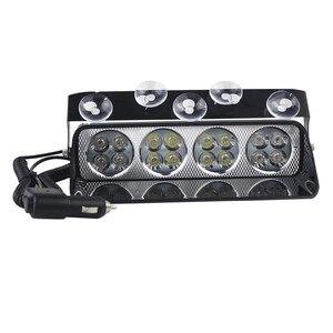 Przednia szyba samochodu sucker światło stroboskopowe policja strażak ostrzeżenie latarka LED awaryjne migające światła przeciwmgielne migające światła sygnalizacyjne