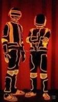 С подсветкой костюм/DJ EL провода робот/DS/световой костюм
