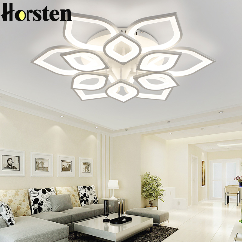 Horsten remote control modern led ceiling lights for for Deckenleuchten wohnzimmer modern led