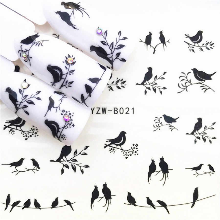 2018 SıCAK SATMAK Güzel paskalya tavşanı Tırnak Sticker Kelebek Çiçek Su Transfer Çıkartma Kaydırıcılar Tırnak Sanat Dekorasyon için Dövme Mani
