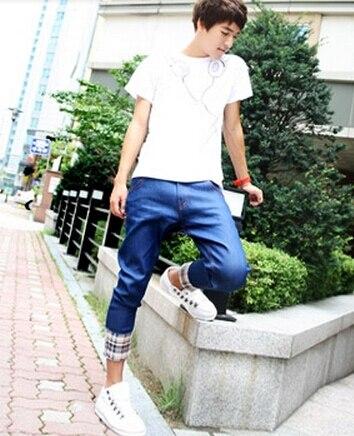 comGentleman Graceで信頼できる ズボン サプライヤ から ドロップクロッチパンツパンツのジーンズの男性ファッション夏2014年香水青いズボンデニムカジュアルkpop高