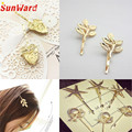 Hot Hair Cuff Clip Jewelry Hairpin Womens Accessories Xmas Gift Star Leaf Drop Shipping High Quality S16
