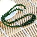 Rusia nefrita jade collar de perlas collar de la joyería fina collar llamativo gem beads bijoux cadena de accesorios de las mujeres 0127