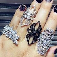 GODKI Luxury Popular Geometry Full Mirco Paved Cubic Zirconia Naija American Wedding Band Rings Fashion Jewelry