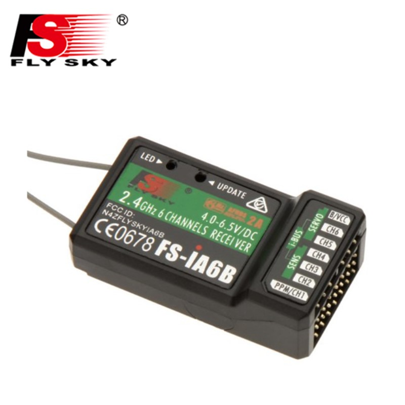Flysky 2.4G 6CH FS-iA6B iA6B Receiver PPM Output With iBus Port Compatible with FS-i4 FS-i6 FS-i10 FS-GT2E FS-GT2G ...
