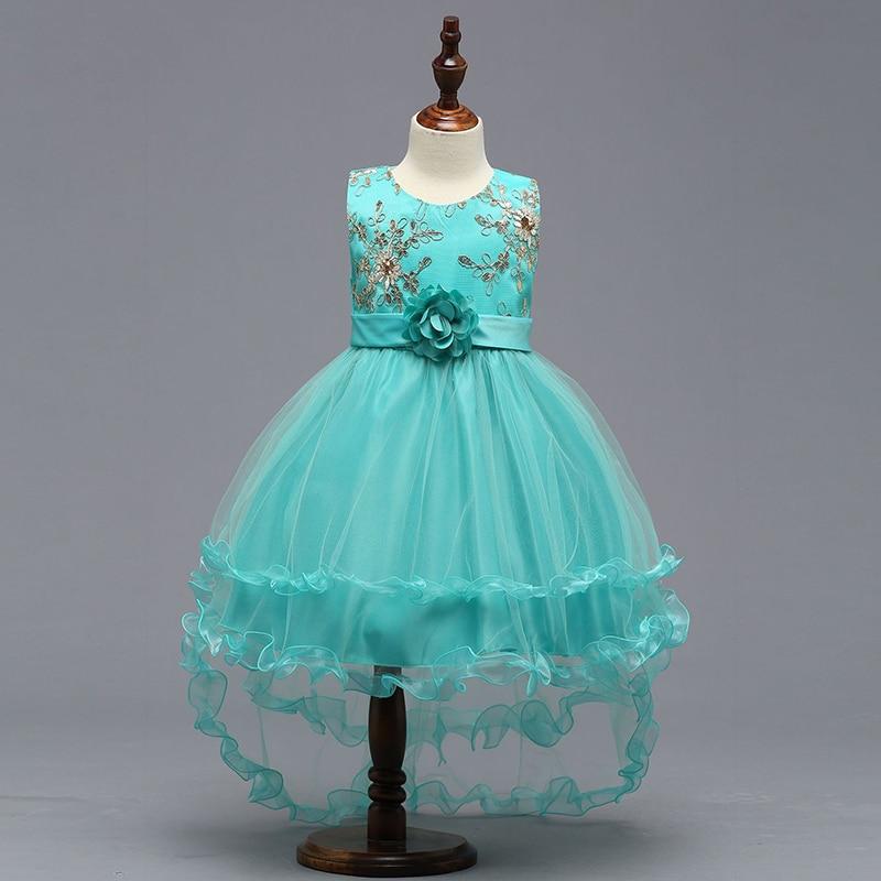 Ball Gown Lace Flower Girl Dresses Sleeveless O-Neck Girls Kids ...