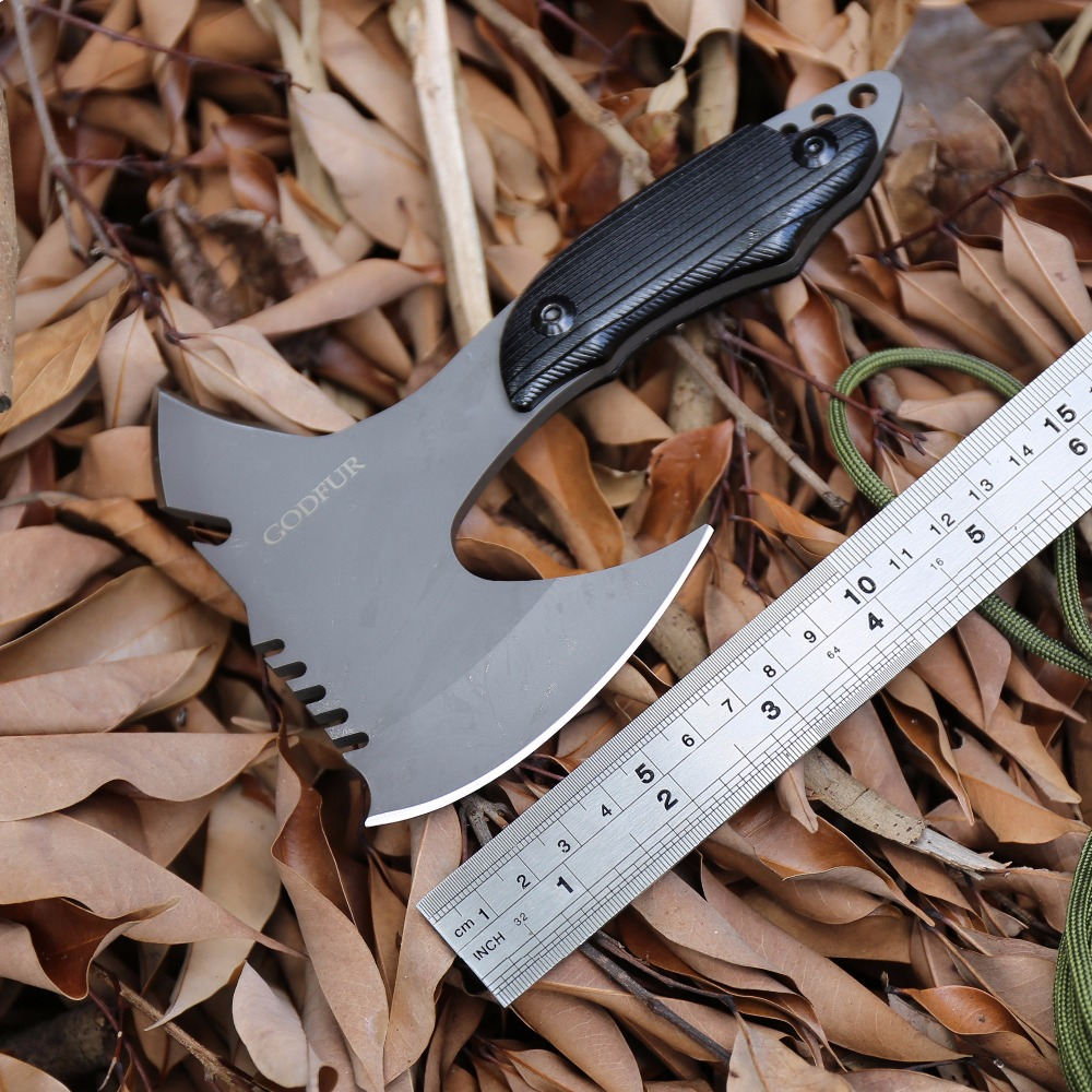 GODFUR Multipurpose Practic Axe Outdoor Camping Hunting Multifunctional Sharp Survival Tomahawk Fire Portable High Quality Tools