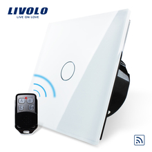Livolo EU Standard Remote Switch,  220~250V Wall Light Remote Touch Switch VL-C701R-11 With Mini Remote Controller RT12